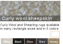 Curly wool rug sizes/colors