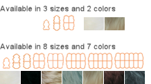 Long wool rug sizes/colors